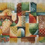 Абстракция_ схема Vervaco (Бельгия), 24 цвета, размер вышивки 32 х 45 см (без рамки), нитки DMC_Катерина Черненко_