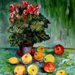 Бегония-с-яблоками-холст-масло-50х60_Vinsenta-Светлана-Сычева