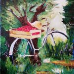 Велосипед (по мотивам) холст, масло, 30х40,Анна Прохорова