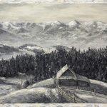 Вид з Жаб'я на Чорногору, 1925 рік, 40х60, полотно, олія, 2016р._Петро Грицюк
