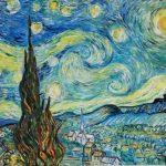 Художник Vinsenta (Светлана Сычёва)-Вольная-копия-картины-Ван-Гога-Звездная ночь 50x60-Vinsenta, С.Сычева