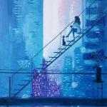 Воспоминания о Нью-Йорке_(по мотивам)холст, масло,45х60 Анна Прохорова