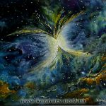 Вселенная. Цикл.Туманность Бабочка.50х60,2011г._Олег М. Караваев