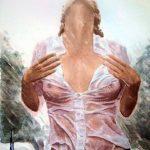Картины.Реализация.Живопись--Дощ влітку, бумага, акварель, 40х50, Сергей Григорьев