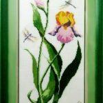 Ирис, 19 цветов, размер вышивки без рамки 23 х63_Катерина Черненко_вышивка крестом