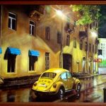 Любимый город спит спокойно_Серия_Города,где я бывал,холст, масло, 40х60,2006 г._Олег М. Караваев