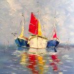 Морской пейзаж,холст,масло, А-ля Прима,Прохорова Анна,заказать картину