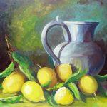 Заказать картину-Натюрморт с лимонами--картины Валентины Петрик