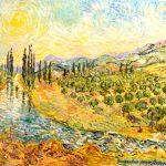 Оливковые рощи Албании холст масло 50х60-Vinsenta, С.Сычева