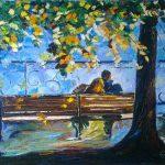 Двое. Свободная копия, холст, масло, 50х70, Анна Прохорова