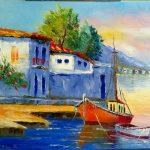 Рассвет на Крите, холст, масло, 30х40, Ксения Чащина