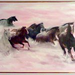 Снежный табун,холст,масло,40х60,2008г._Олег М. Караваев
