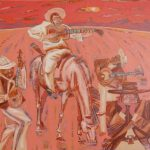 Солнце над горой, холст, акрил, 70х80, 2009 г. Александр Шинин