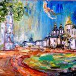 София-Киевская.Раннее-утро-холст-масло40х60_Vinsenta-Светлана-Сычева