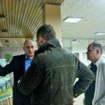 Художники Петр Грицюк, Александр Яворивский и Олег М. Караваев перед открытием выставки.