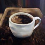 Чашка кофе, 80х60 см, холст, масло -Валентина Пилипенко