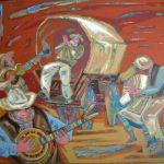 Картины.Реализация.Живопись--Я видел сияние, холст, акрил, 70х80, 2009 г. Александр Шинин