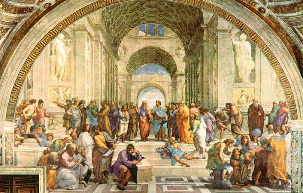Афинская школа.Рафаэль-1508-1511, фреска «Афинская школа» (500х700 см) Станца дела Сеньятура, Ватикан