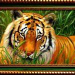 Tiger, холст, масло, 40х60, 2007 г._ Олег М. Караваев