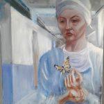 Бабочка, холст,масло, 50х70,2017г. Д.Косариков