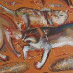 Мартовская песня, 2005г. холст, акрил, 80х45, Александр Шинин