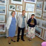 Муза художника Елена(слева) и Оксана Бойко -галерист