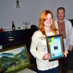 Победитель Конкурса_Зеленое_с картиной_Буравко_художник Людмила Липовецкая