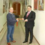 Ректор ДипАкадемии Циватый В.Г. и Руководитель Проекта Олег М. Караваев открыли выставку