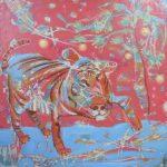 Тигр-защита от злых духов 2009, холст, акрил, 70Х69, Шинин Александр