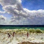 Сергей ГРИГОРЬЕВ, Море радости после дождя 48х36cм-акварель-бумага 2016