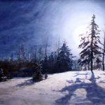Сергей ГРИГОРЬЕВ В свете полной луны 76х56cм-акварель-бумага 2015