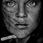 Купить картину-графику-Cristina Otero, бумага, карандаш, гелевые ручки, 30х30, графика, 2014 - Негода Евгения