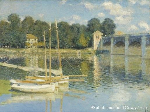 «Мост в Аржантее». Клод Моне, 1874. Музей Орсе, Париж, Франция