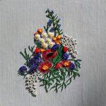 Косик Анастасия,Букет весеннего настроения,мозаика бисером,40х40, 2018 г.