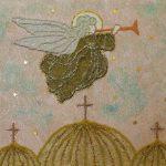 Картина-Косик Анастасия Ангел мозаика из бисера 40х30