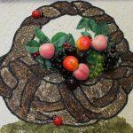 Косик Анастасия, Урожай, мозаика, бисер,декоративные фрукты, 40х40