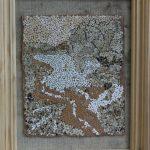 Картина-Косик Анастасия,Летнее вдохновение, мозаика из неокрашенной яичной скорлупы, 30х35