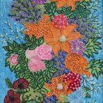 Картины художников-Косик Анастасия, Летние цветы, мозика, бисер,бусины ,стеклярус, г. Краматорск
