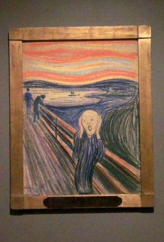 «Крик». Эдвард Мунк, 1895 г. фото ©Анна Прохорова, 2013, музей МоМА, Нью-Йорк (Авторское право)