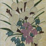 Косик Анастасия, Весенний букетик, мозаика бисер,стеклярус, 40х50