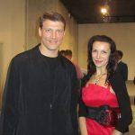 Гость нашей выставки Чемпион мира по плаванию Олег Лисогор и художник Э.Обухова