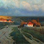 Вечер в Украине_Крыжицкий_известные картины-заказать копию.Фото-картина