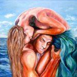 Двое, акрил, 50х70, 2015-Лилия Онищук