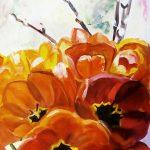 Цветы Александры Кубанкиной, холст,масло