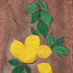 Лимончики мозаика из бисера 40х50 Анастасия Косик