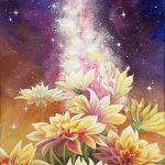 Небесное благословение, акрил, холст 80х35-Анна Стешенко