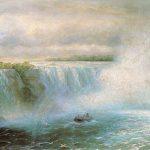 Картина маслом-Ниагарский водопад, 1893г, холст, масло, 128x170 см-Иван Айвазовский