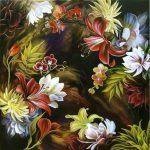 Ночное волшебство, акрил, холст 70х70-Анна Стешенко