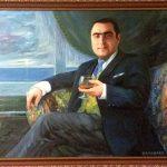 Портрет_Мужской портрет_коллаж,принт, масло,лак,50х60,2015г.заказать фотопринт-портрет