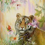 Слияние с природой, акрил, холст 85х55-Анна Стешенко